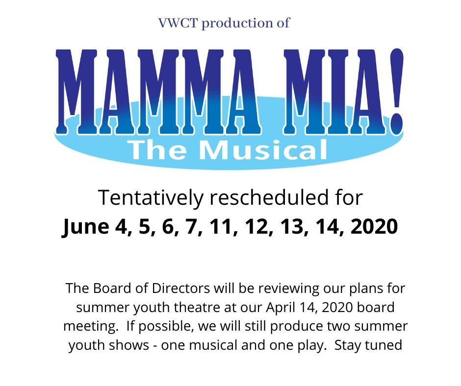 Mamma Mia date information